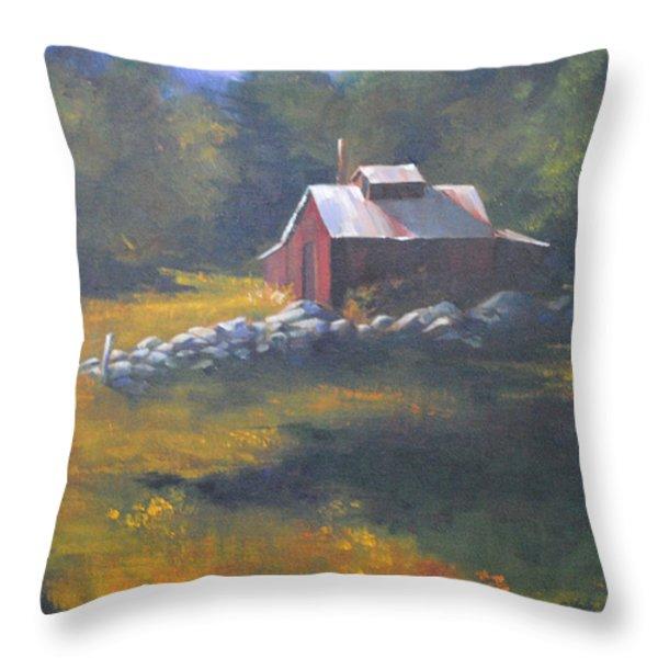 Off Season Throw Pillow by Christine Hodecker-George