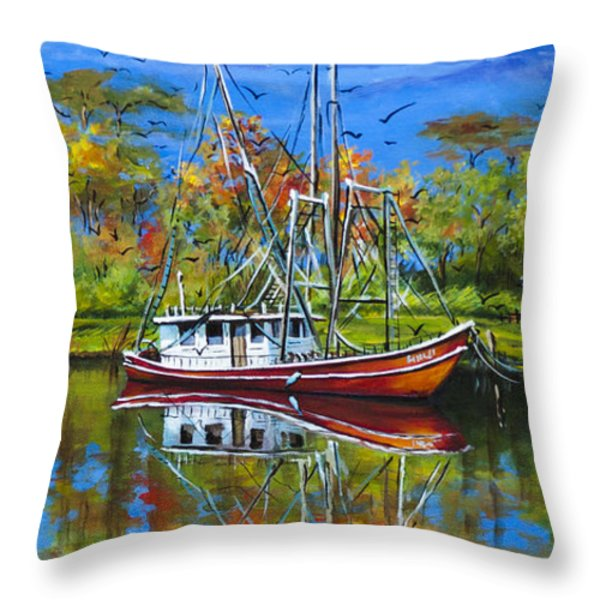 Off Season Throw Pillow by Dianne Parks