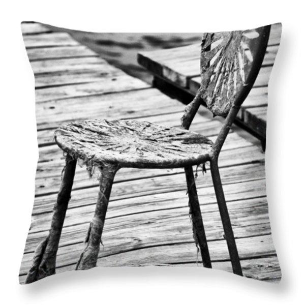 Off-Season Grunge Throw Pillow by Christi Kraft
