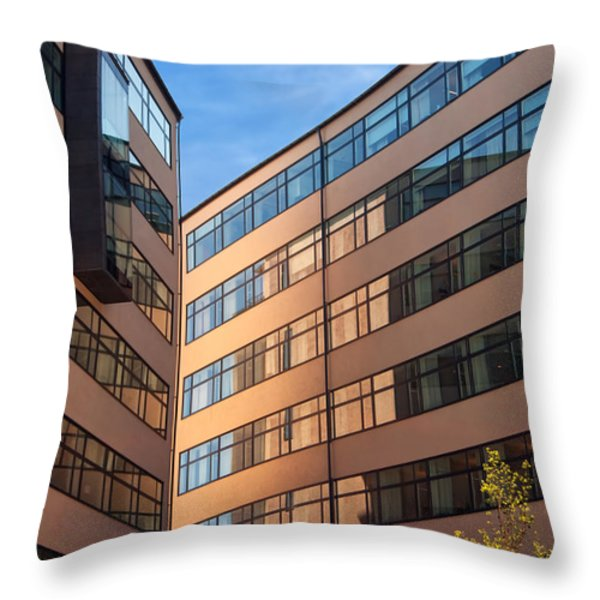 Office Building Malmo Throw Pillow by Antony McAulay