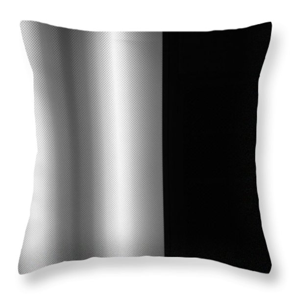 Office Ceiling Black and White Throw Pillow by Mary Bedy