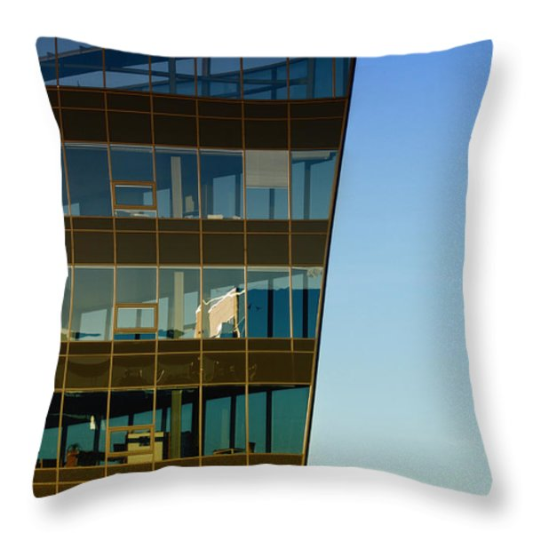 Office Throw Pillow by Kent Mathiesen