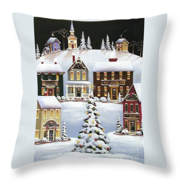 Oh Christmas Tree Throw Pillow by Catherine Holman