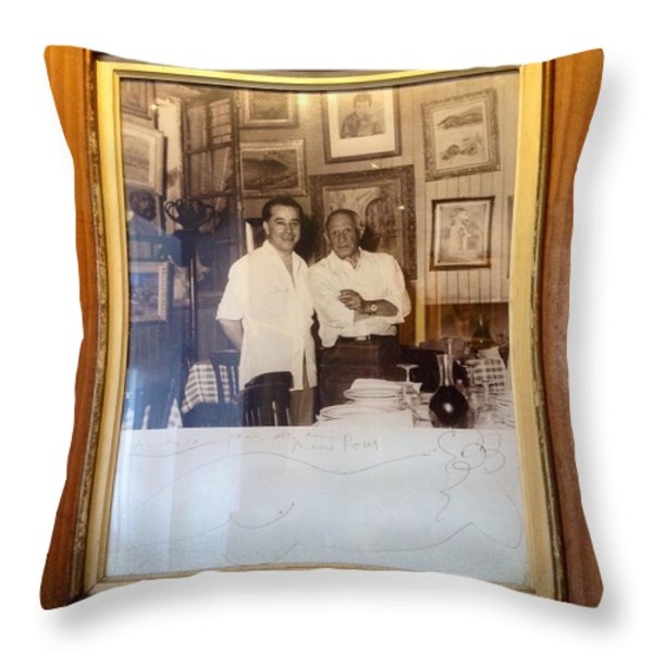 Oh Pablo.. Throw Pillow by FRANCE  ART