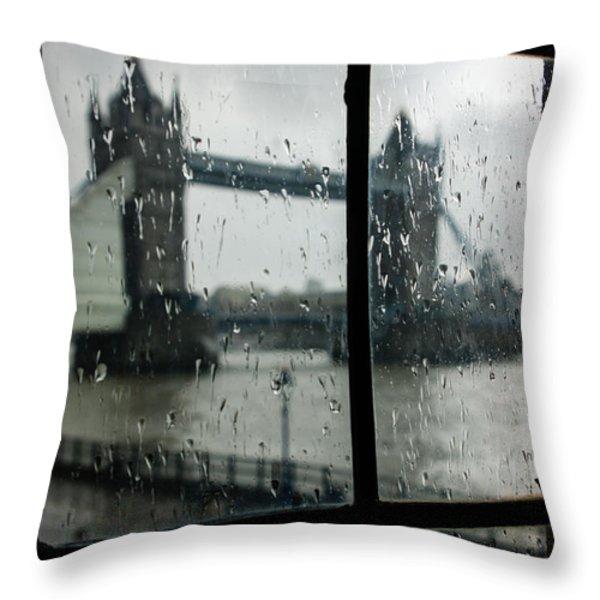 Oh So London Throw Pillow by Georgia Mizuleva