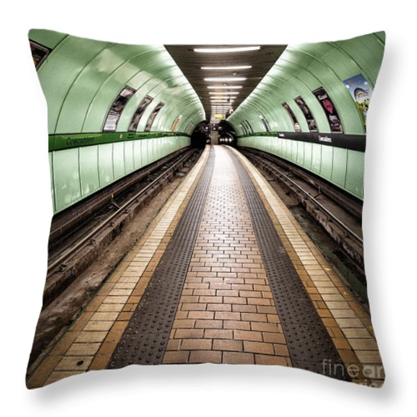 Oh So Quiet Throw Pillow by John Farnan