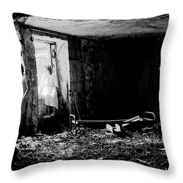 Oheka Castle Basement 1980 Throw Pillow by Ed Weidman