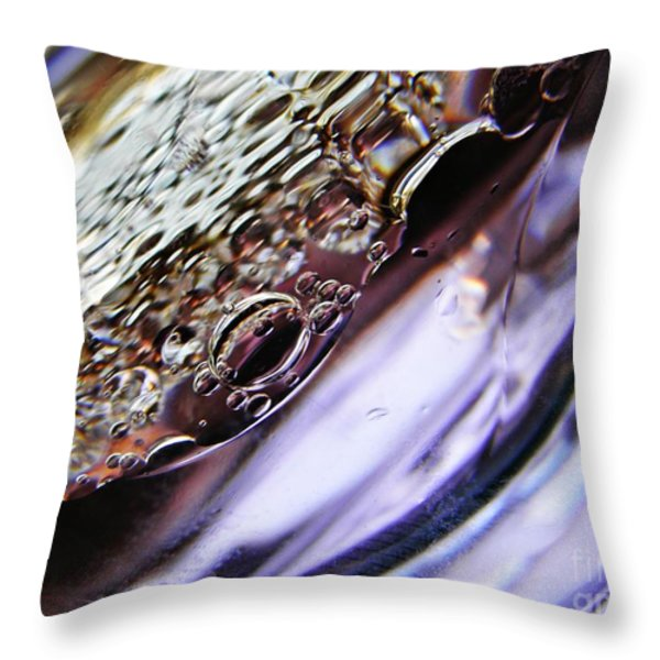 Oil and Water 29 Throw Pillow by Sarah Loft