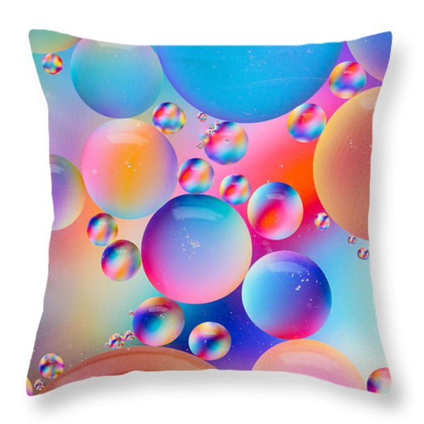 Oil And Water Throw Pillow by Dawna  Moore Photography