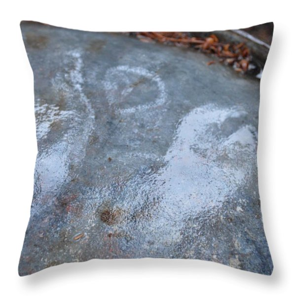 Oil Drum Angel Throw Pillow by Brian Boyle