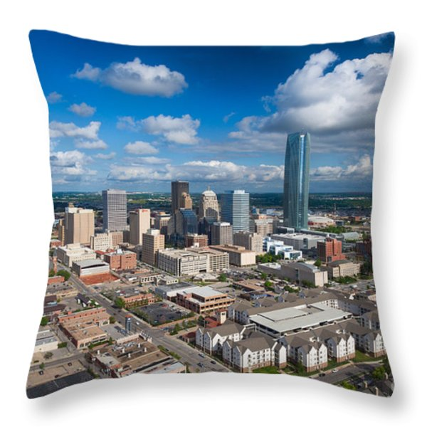 Oklahoma City Throw Pillow by Cooper Ross