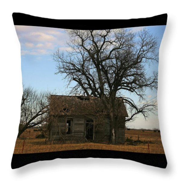 Oklahoma Shack Throw Pillow by Ellen Henneke