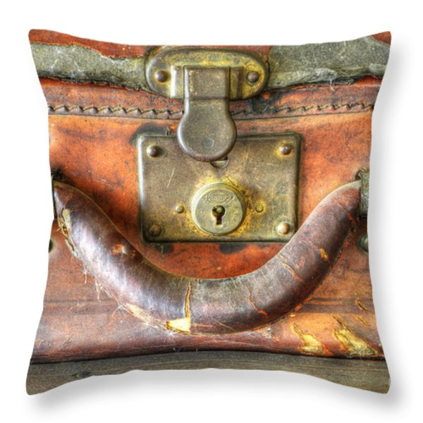 Old Baggage Throw Pillow by Bob Christopher