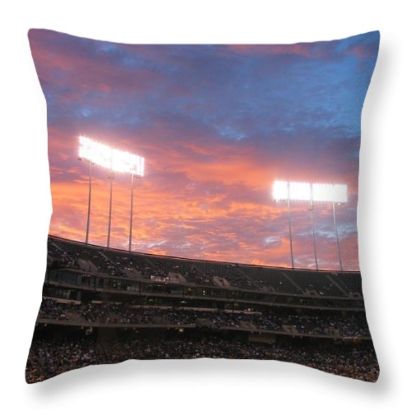 Old Ball Game Throw Pillow by Photographic Arts And Design Studio
