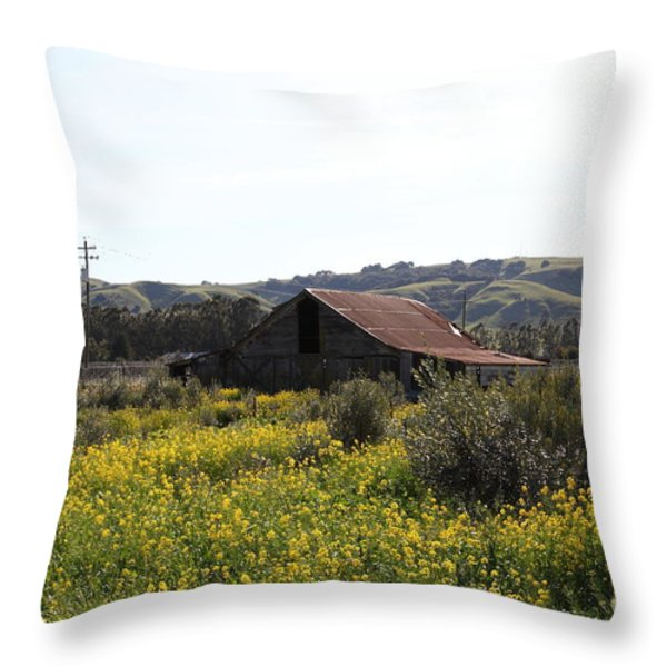 Old Barn in Sonoma California 5D22234 Throw Pillow by Wingsdomain Art and Photography