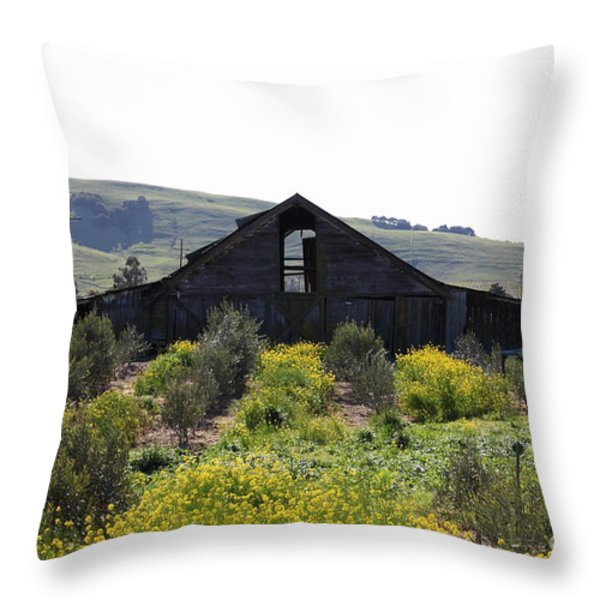 Old Barn in Sonoma California 5D22235 Throw Pillow by Wingsdomain Art and Photography