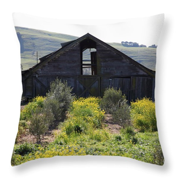 Old Barn in Sonoma California 5D22236 Throw Pillow by Wingsdomain Art and Photography