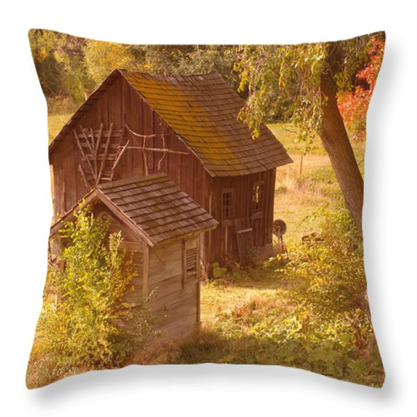 OLD BLACKSMITHS SHOP  Throw Pillow by Jeff  Swan