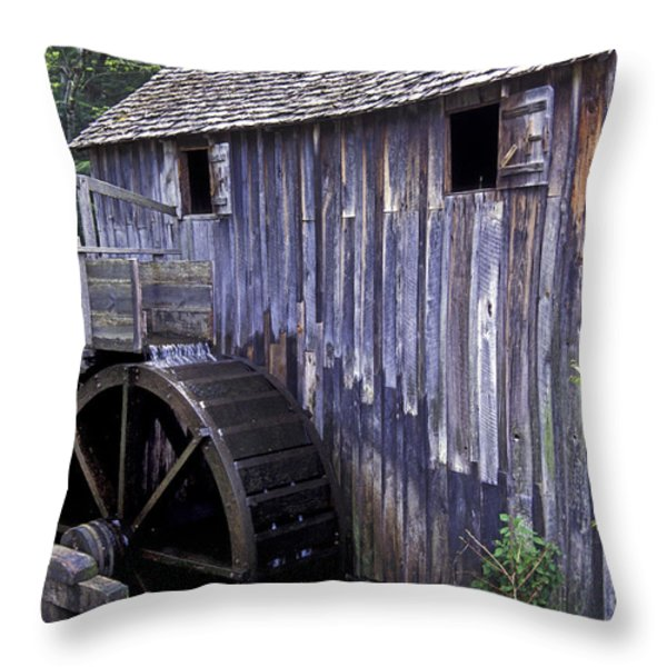 Old Cades Cove Mill Throw Pillow by Paul W Faust -  Impressions of Light