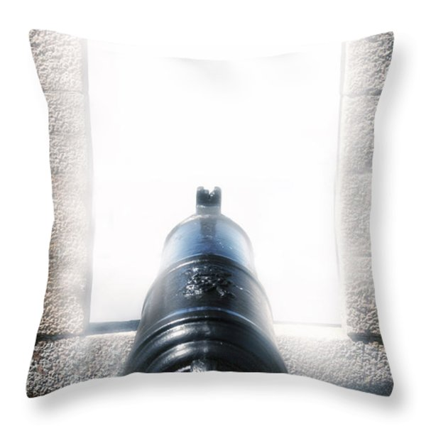 old cannon Throw Pillow by Joana Kruse