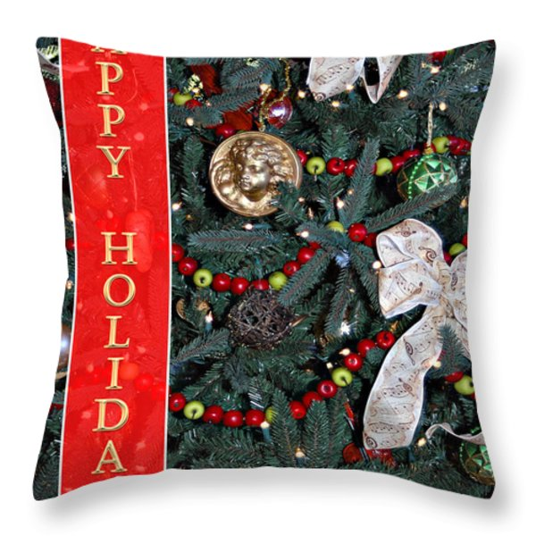 Old Fashioned Christmas Throw Pillow by Carolyn Marshall
