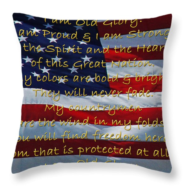 Old Glory Throw Pillow by Robyn Stacey