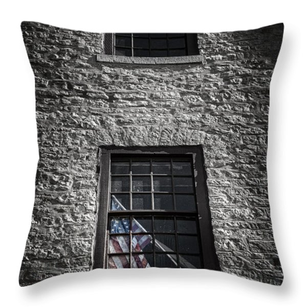 Old Glory Throw Pillow by Scott Norris