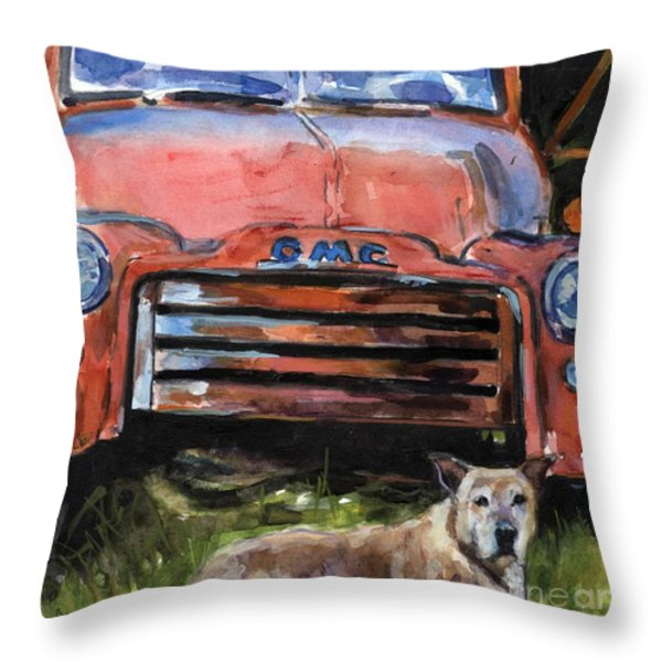 Old Gold Throw Pillow by Molly Poole