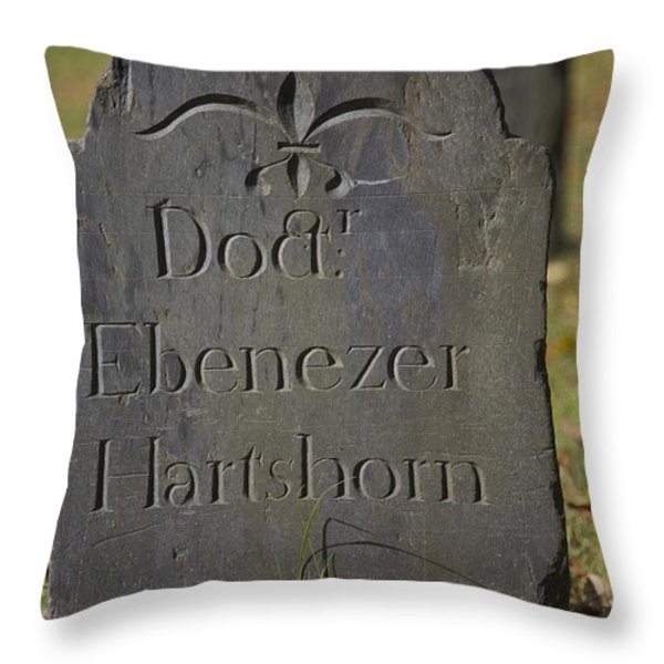 Old Headstone Throw Pillow by Allan Morrison