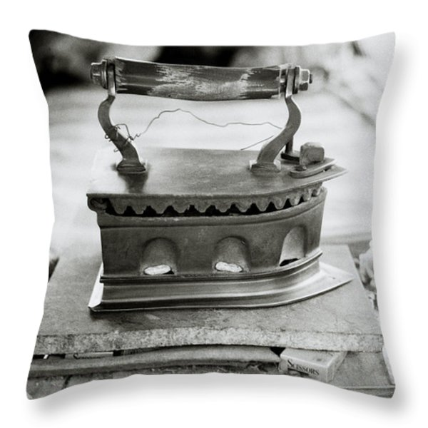 Old Iron Throw Pillow by Shaun Higson