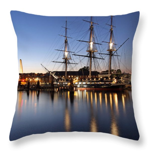 Old Ironsides Throw Pillow by Juergen Roth