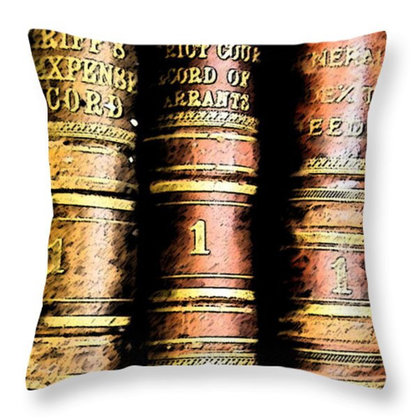 Old Ledgers					 Throw Pillow by Lovina Wright
