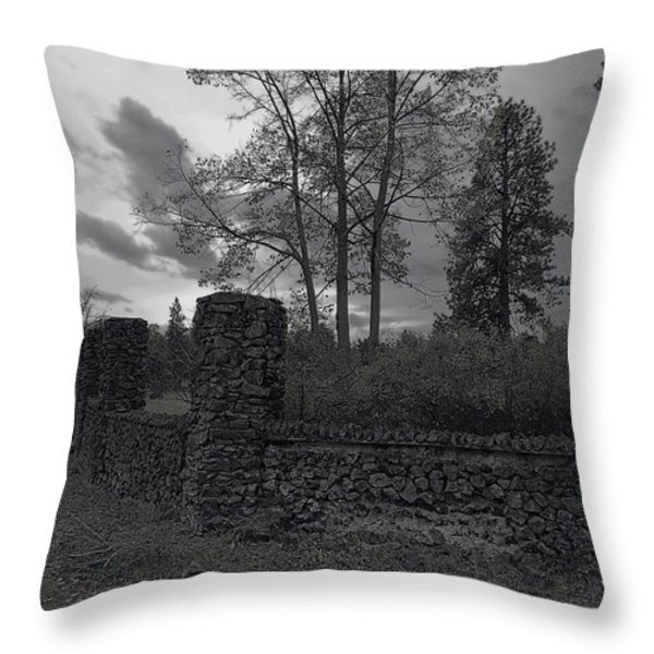OLD LIBERTY PARK RUINS in Spokane Washington Throw Pillow by Daniel Hagerman