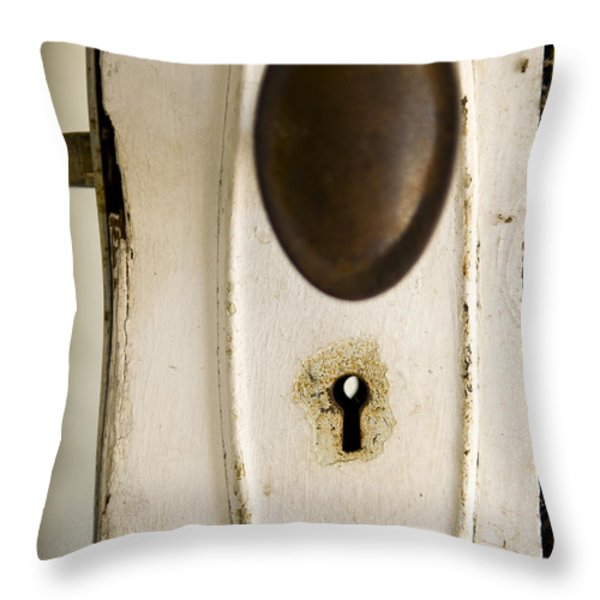 Old Lock Throw Pillow by Tim Hester