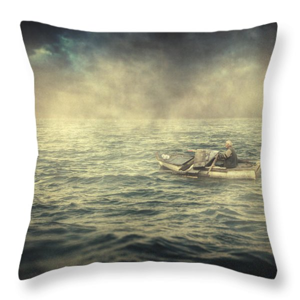 Old Man And The Sea Throw Pillow by Taylan Soyturk