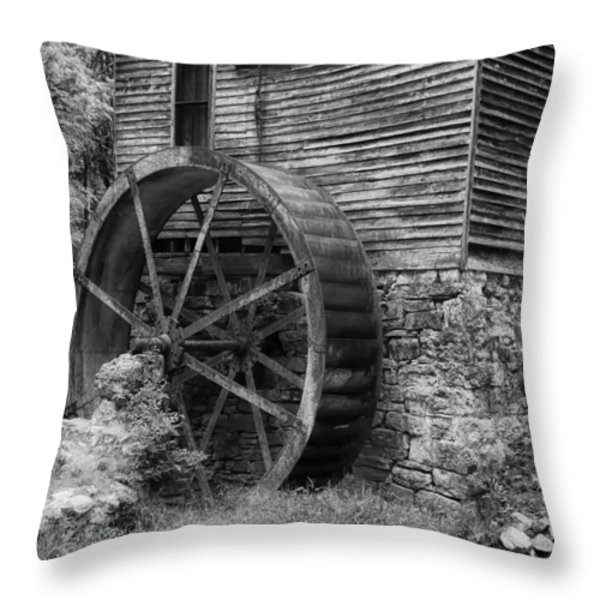 Old Mill in Tennessee Throw Pillow by Mountain Dreams