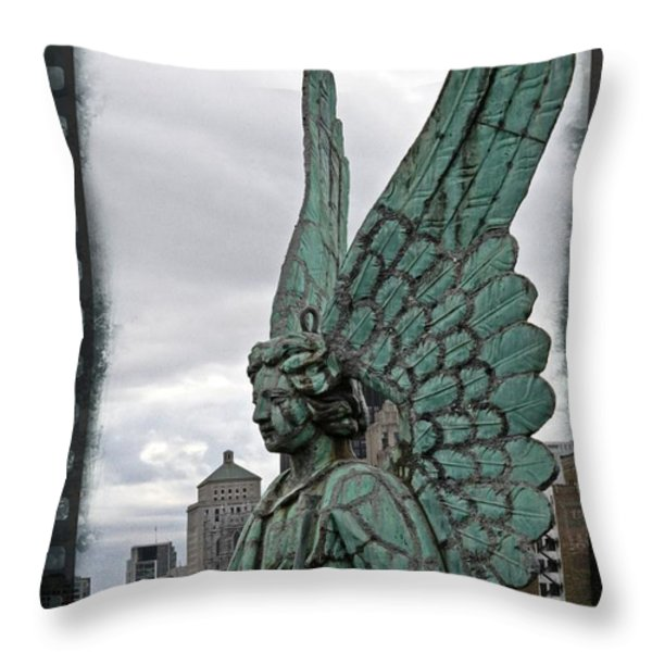 Old Montreal Angel Filmstrip Throw Pillow by Alice Gipson