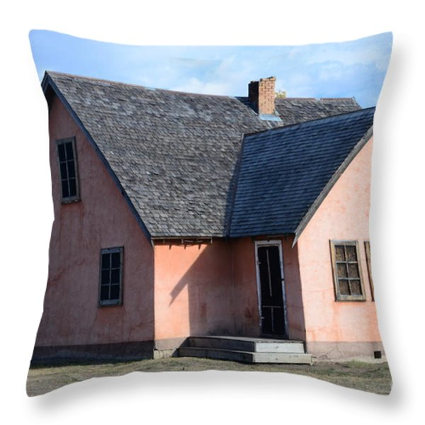 Old Mormon Home Throw Pillow by Kathleen Struckle