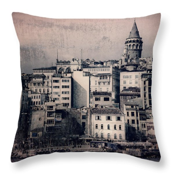 Old New District Throw Pillow by Joan Carroll