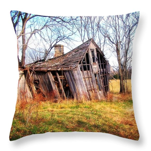 Old Ozark Home Throw Pillow by Marty Koch