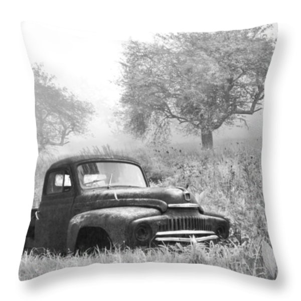 Old Pick Up Truck Throw Pillow by Debra and Dave Vanderlaan