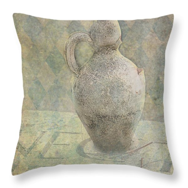 Old Pitcher Abstract Throw Pillow by Garry Gay