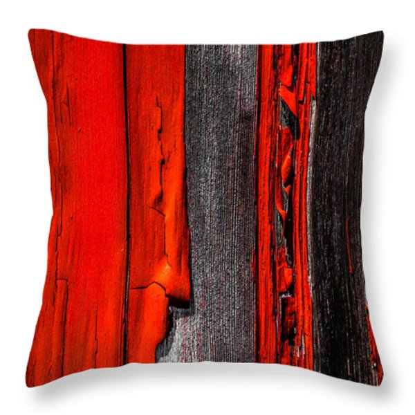 Old Red Barn Four Throw Pillow by Bob Orsillo