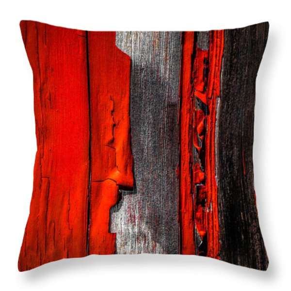 Old Red Barn One Throw Pillow by Bob Orsillo