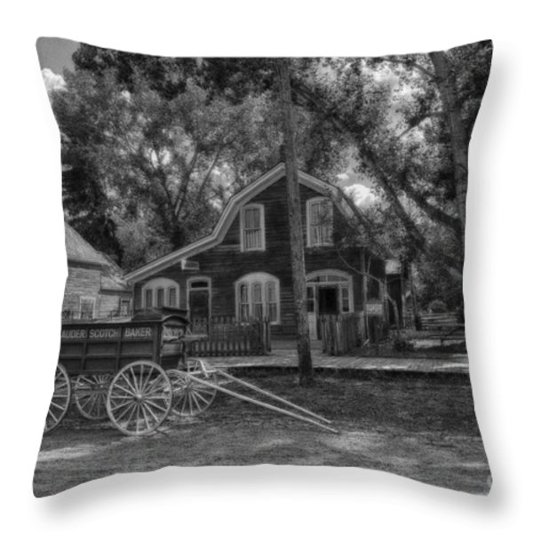 Old Scene-baker Wagon Throw Pillow by Darcy Michaelchuk