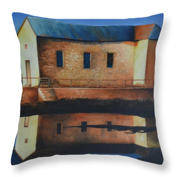 Old School House Throw Pillow by Martin Schmidt