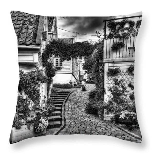 Old Stavanger Part I Throw Pillow by Erik Brede