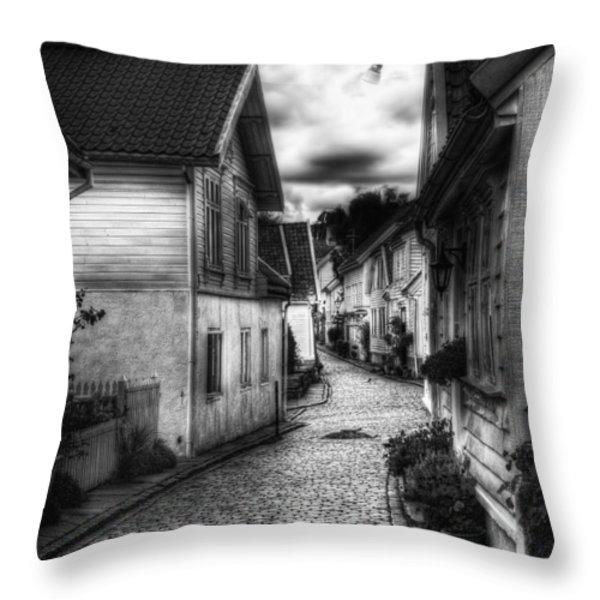 Old Stavanger Part II Throw Pillow by Erik Brede