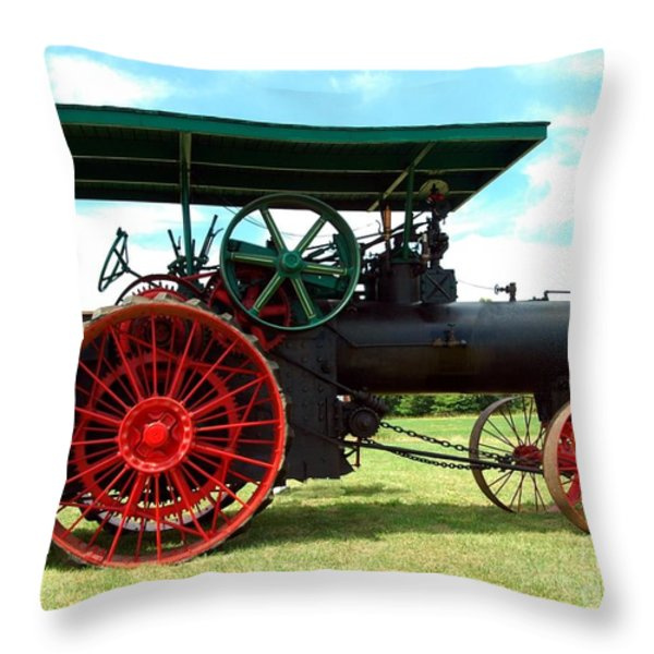 Old Steam Engine Throw Pillow by Kathleen Struckle