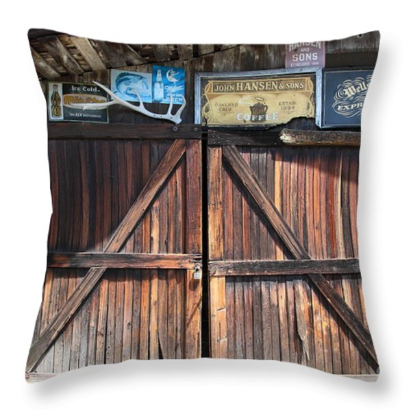 Old Storage Shed At the Swiss Hotel Sonoma California 5D24457 Throw Pillow by Wingsdomain Art and Photography